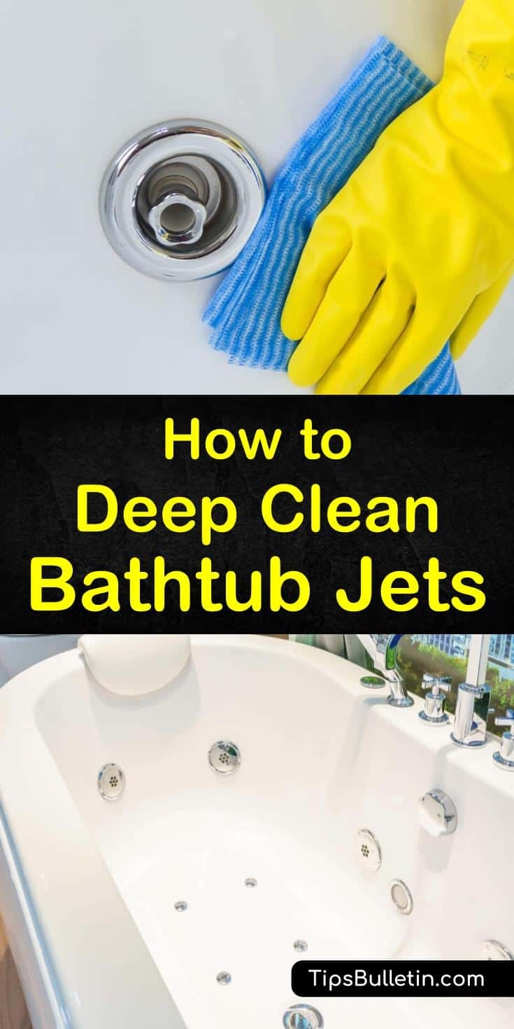 Learn how to clean bathtub jets in your Jacuzzi tubs the DIY way. We walk you through the process of cleaning your tub jets so you can enjoy the pleasure of your hot tub without worrying about exposing yourself to dangerous agents. #jettedtub #cleaning #bathtubjets