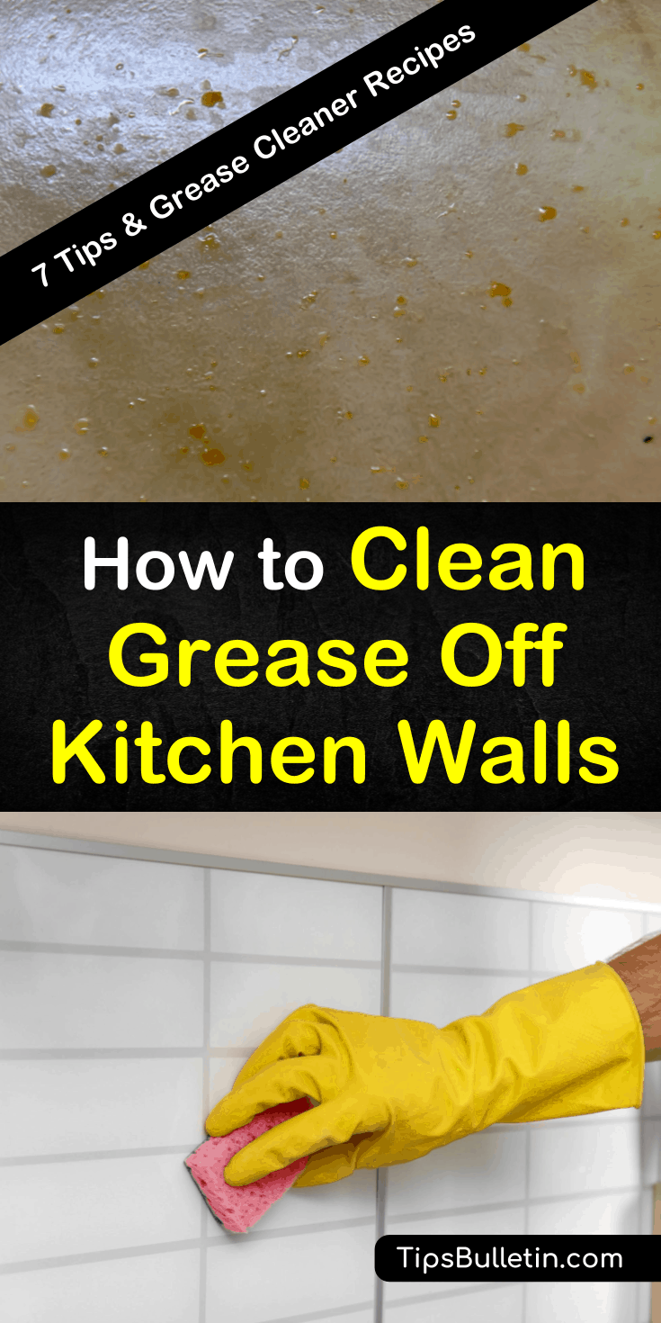 No matter how careful you are when cooking grease and oil, splatters happen. We want to show you how to remove greasy stains from kitchen tiles and surfaces using common ingredients you already have in your kitchen. #grease #wallcleaning #removegrease