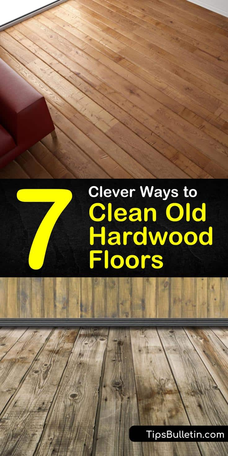Learn how to clean old hardwood floors naturally with our guide. We show you how to remove dog urine from wood and give your floors a deep shine with vinegar and other cleaning products. #cleaningfloors #hardwood #oldfloors #floorcleaning