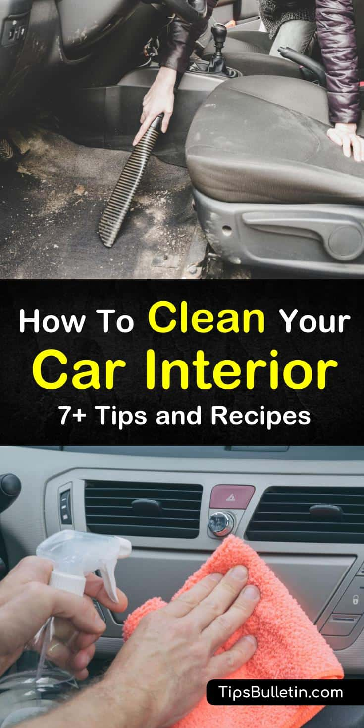 Discover the best ways to clean your car interior in this post. You will learn how to remove stains, dirt, and dust from both upholstery and hard surfaces with everything from store-bought to DIY cleaners. #carcleaning #interior #car