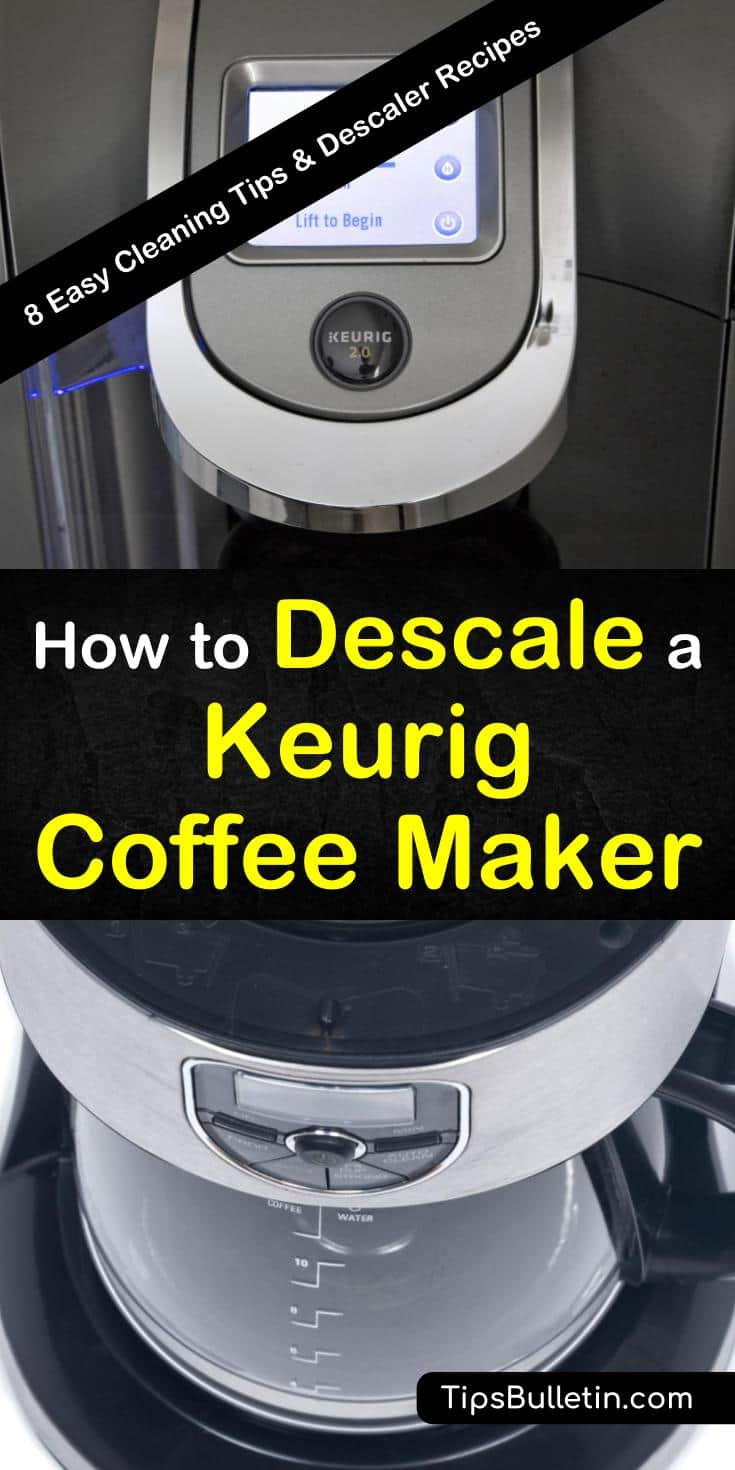 Discover how to descale a Keurig coffee maker using natural ingredients, handy tips, or a Keurig cleaning solution. Learn multiple ways to remove limescale using vinegar. Keep your Keurig espresso machine running smoothly with easy-to-follow instructions. #descalekeurig #coffee #maker