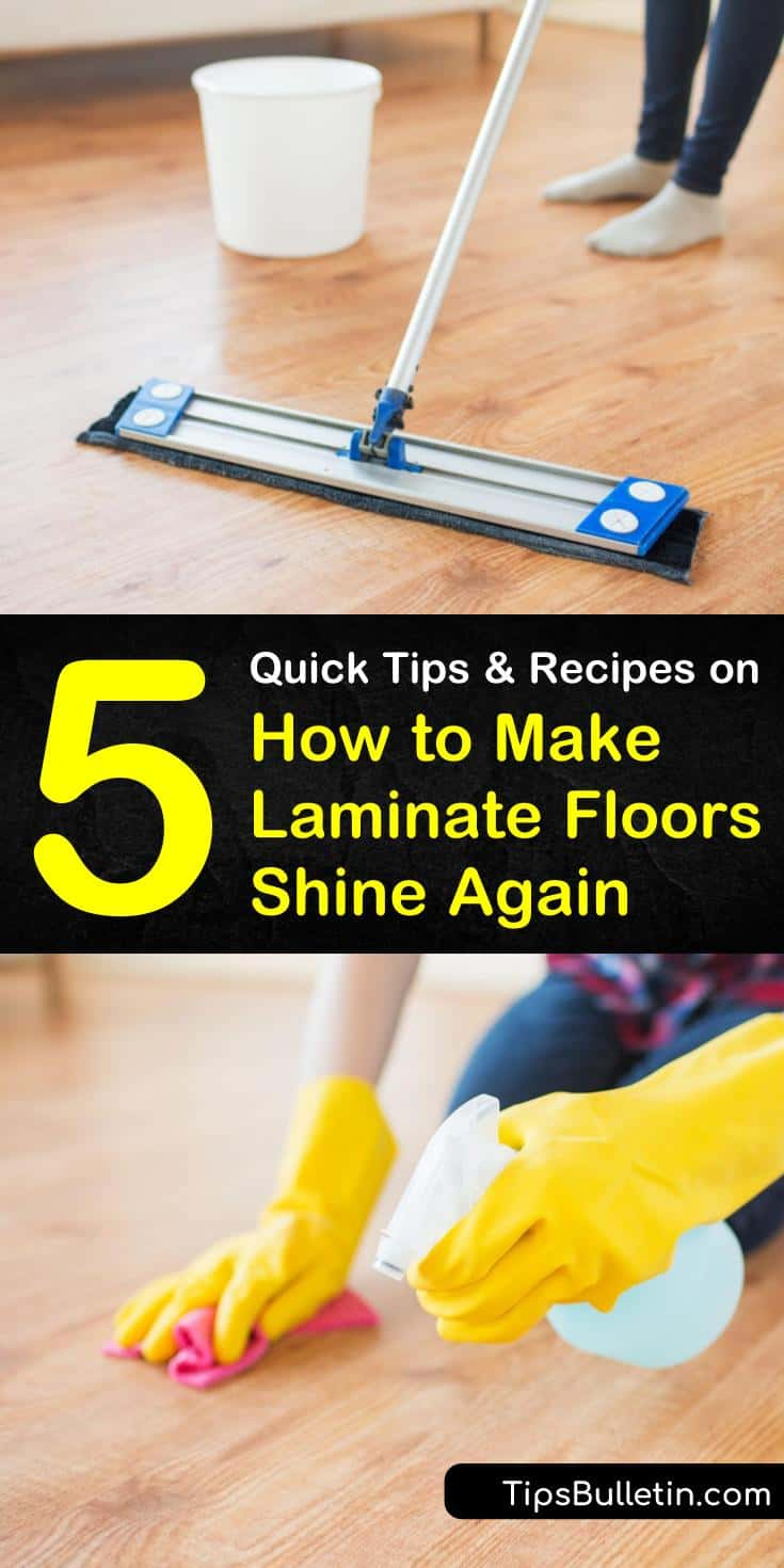 DIY recipes bring out the shine and luster in laminate floors. Our DIY cleaners show you how to clean laminate woods using white vinegar, baking soda, and water, and polish them using vegetable and olive oils. #shinylaminatefloors #howtocleanlaminatefloors #makelaminatefloorsshine