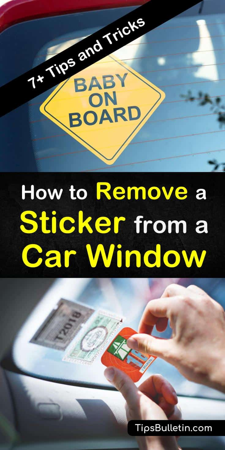 Remove stickers and sticker adhesive from car windows in a few simple steps using a hairdryer or ice. Peel off those stickers with ease using nail polish remover, Goo Gone, WD-40 or everyday window cleaner. #stickerremover #car #windowstickerremover