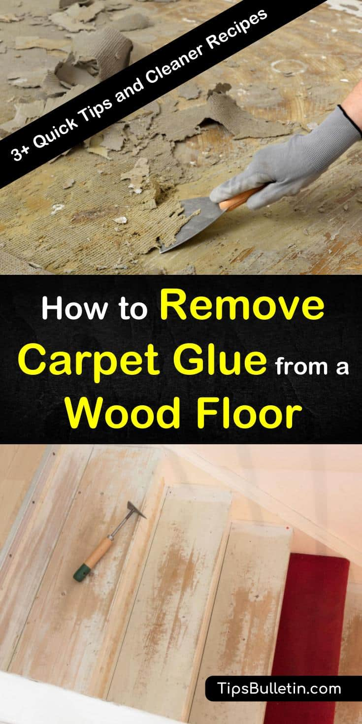 Find out how to remove carpet glue from a wood floor with our guide. We show you how to clean adhesive off wood floors without damaging them. You'll be ready to take on any cleaning challenge. #carpetglue #remove #cleanglue #woodfloor