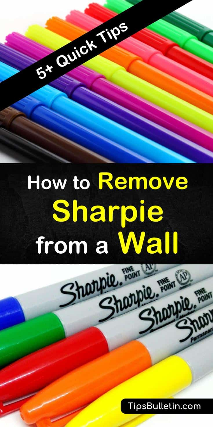 If you've been unfortunate enough to discover permanent marker on the wall, then you may already know how tricky it can be to remove. Our tips show you how to remove Sharpie using a Magic Eraser, toothpaste, and rubbing alcohol. #removesharpiefromwall #removesharpie #removepermanentmarker