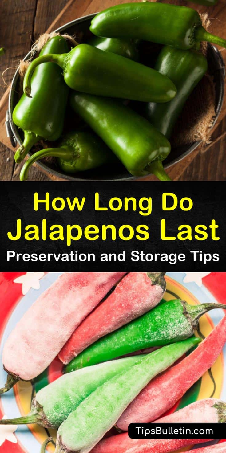"""Find the answer to the question, """"How long do jalapenos last?"""" with our guide. We show you methods for pickling jalapeno peppers and other hot peppers. Your family will love your pickled jalapenos. #jalapenos #storejalapenos #preservejalapenos"""