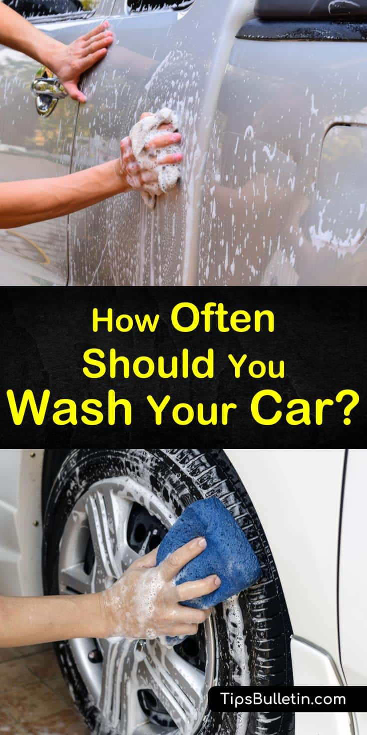 Learn how often you should be washing your car to keep it in tip-top shape! Our guide to car washing also includes natural car cleaner recipes that will have your ride sparkling in no time. #carwashing #wash #car