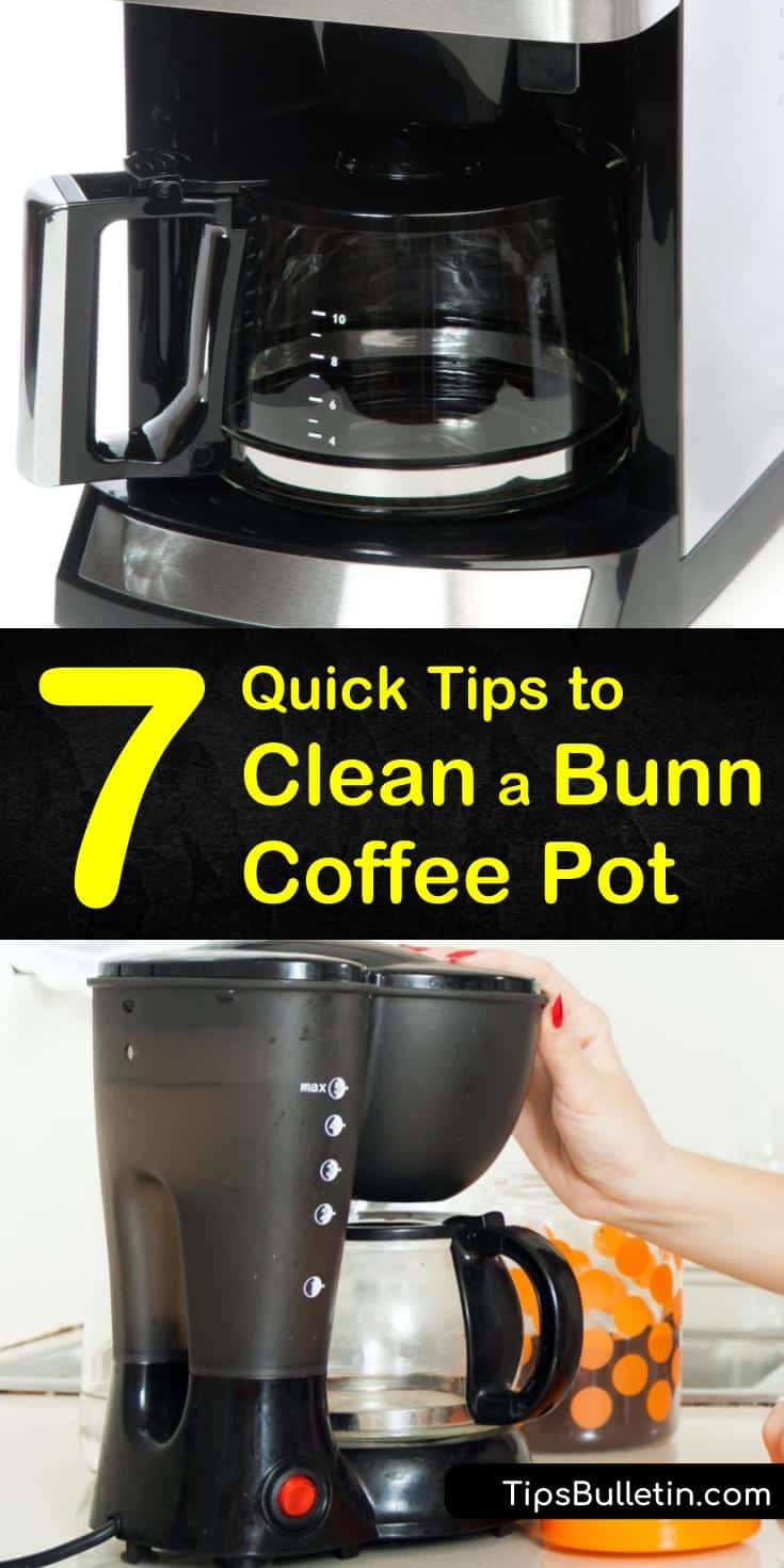 If you're ready to discover how to clean a Bunn coffee pot, these natural solutions will get you started. Using everyday ingredients like vinegar and baking soda, descale your coffee pot and prevent mildew. Treat hard water stains on your carafe using lemon juice. #cleaning #bunncoffeepot