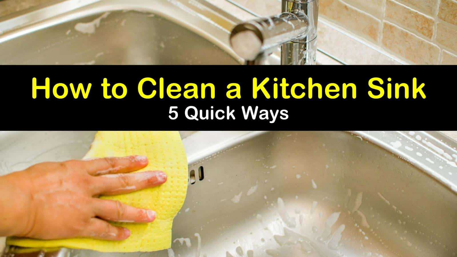 how to clean a kitchen sink titleimg1
