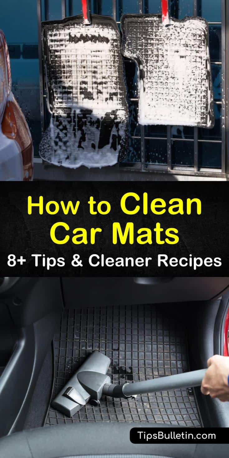 You should not wash car mats that contain rubber or plastic in washing machines. Our cleaning methods and recipes can help you clean and restore carpets and rubber floor mats in a few easy steps. #cleancarmats #cleanfloormats #floormatcleaner #dirtycarmats