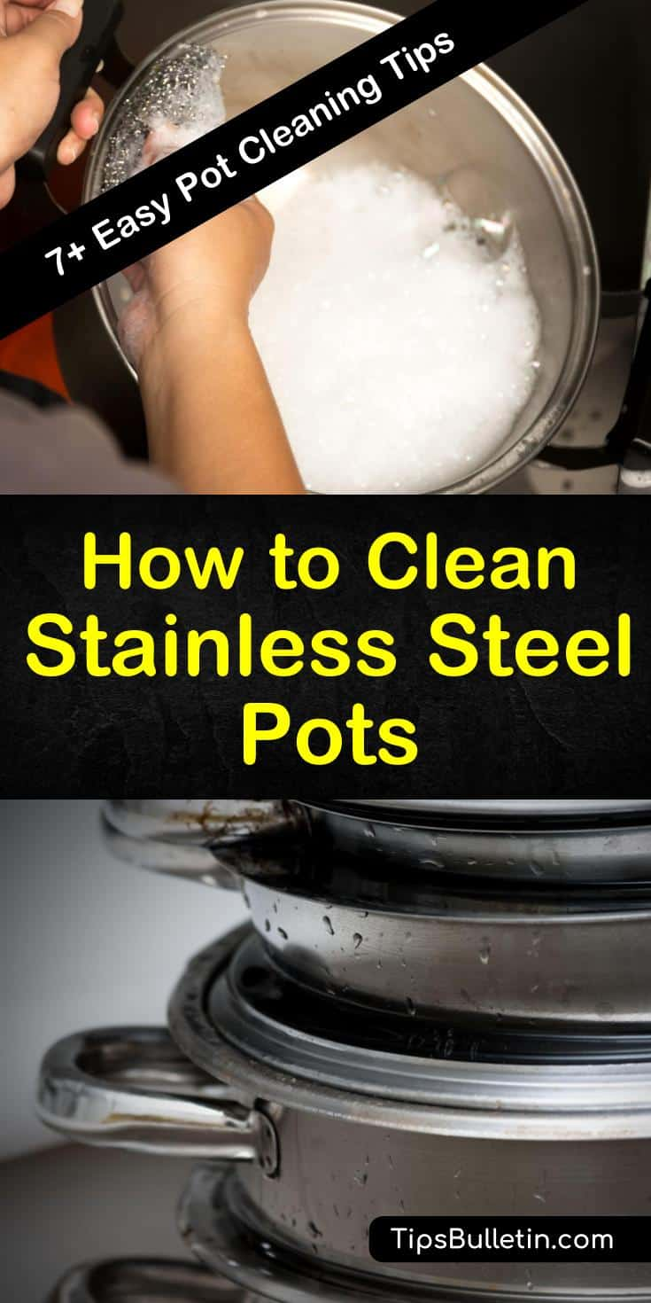 Find out how to clean stainless steel pots using vinegar and other household items. Our guide shows you the best way to get your stainless steel cookware looking like new again without resorting to harsh chemicals. #stainlesssteel #cleaningpots #cleaningstainless