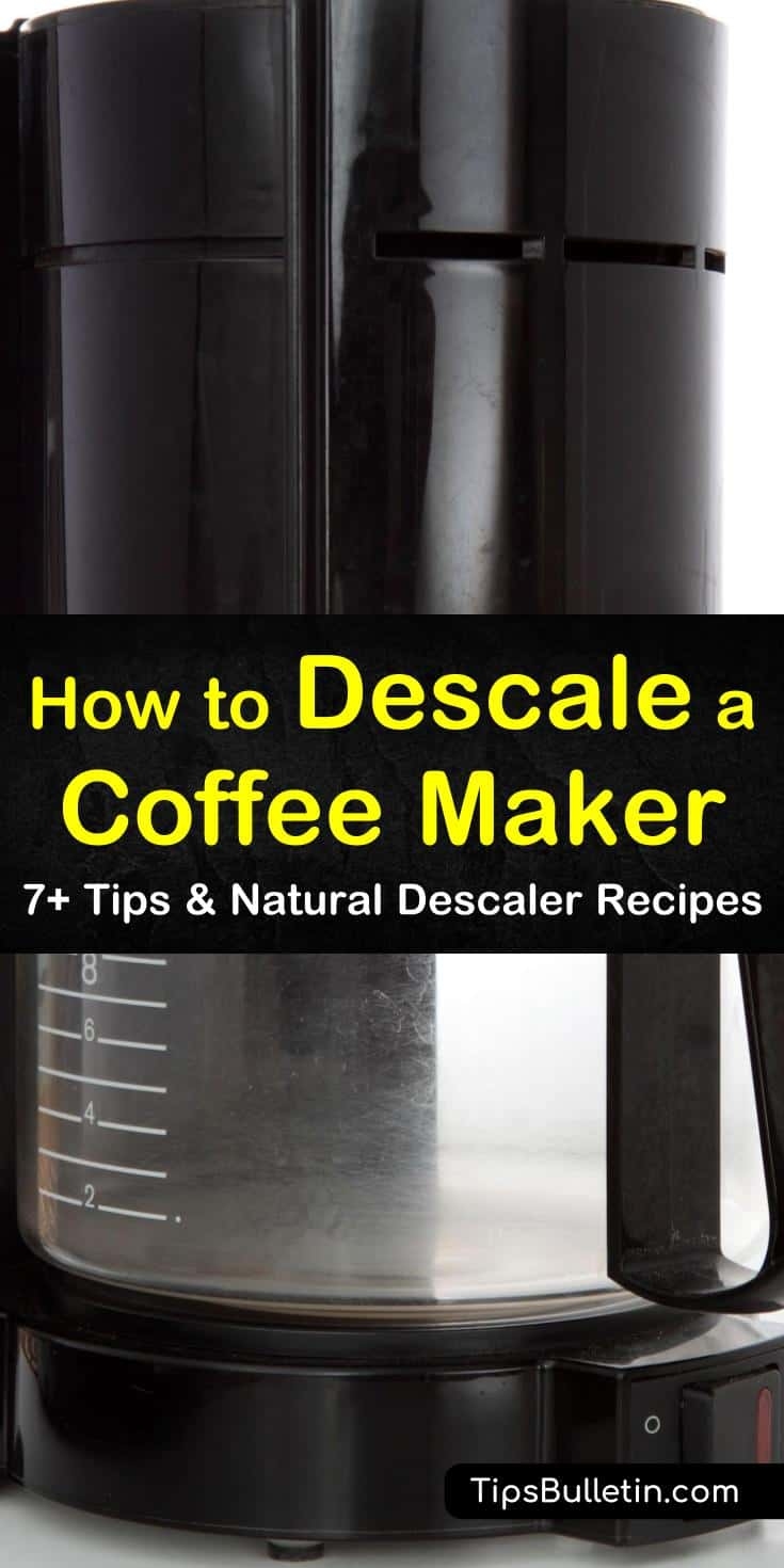 Discover how to descale a coffee maker using vinegar and other everyday ingredients. Whether you have a Keurig or espresso machine, many of these DIY descaling recipes include natural ingredients. Try some excellent commercial cleaners on your coffee machines, too! #descale #coffee #maker #keurig
