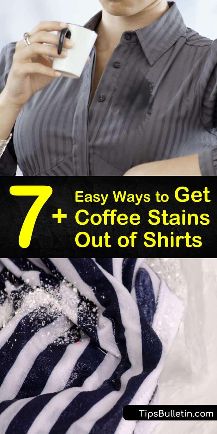Let us show you some of the best stain cleaner ideas for tackling coffee stains. Learn how to use liquid or powdered laundry detergent to treat fresh and set-in stains. #coffeestains #coffee #stains #laundry #shirt