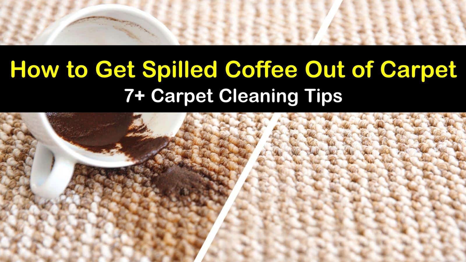 7 Ways To Get Spilled Coffee Out Of Carpet