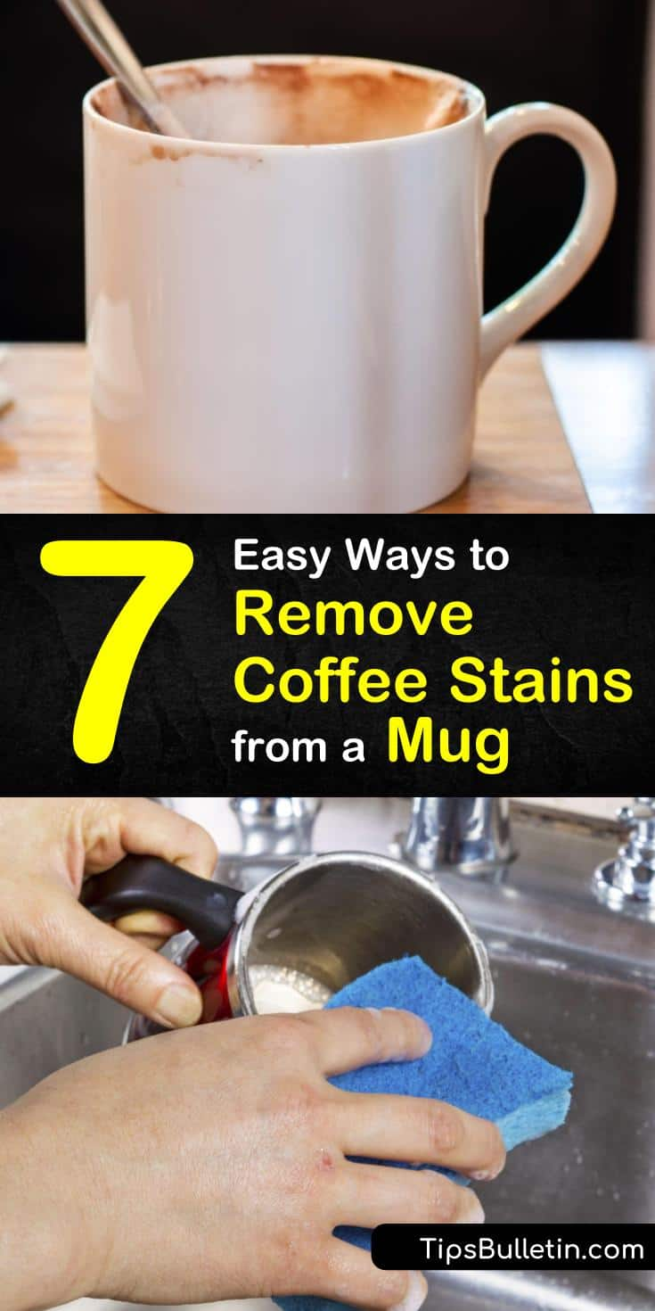 Learn how to remove coffee stains from a mug with our easy-to-follow guide. We help you discover the best ways to get your cups free of unsightly brown stains and looking like new once more. #coffeestains #cleaningmugs #dishwashing #coffeecups #mugs