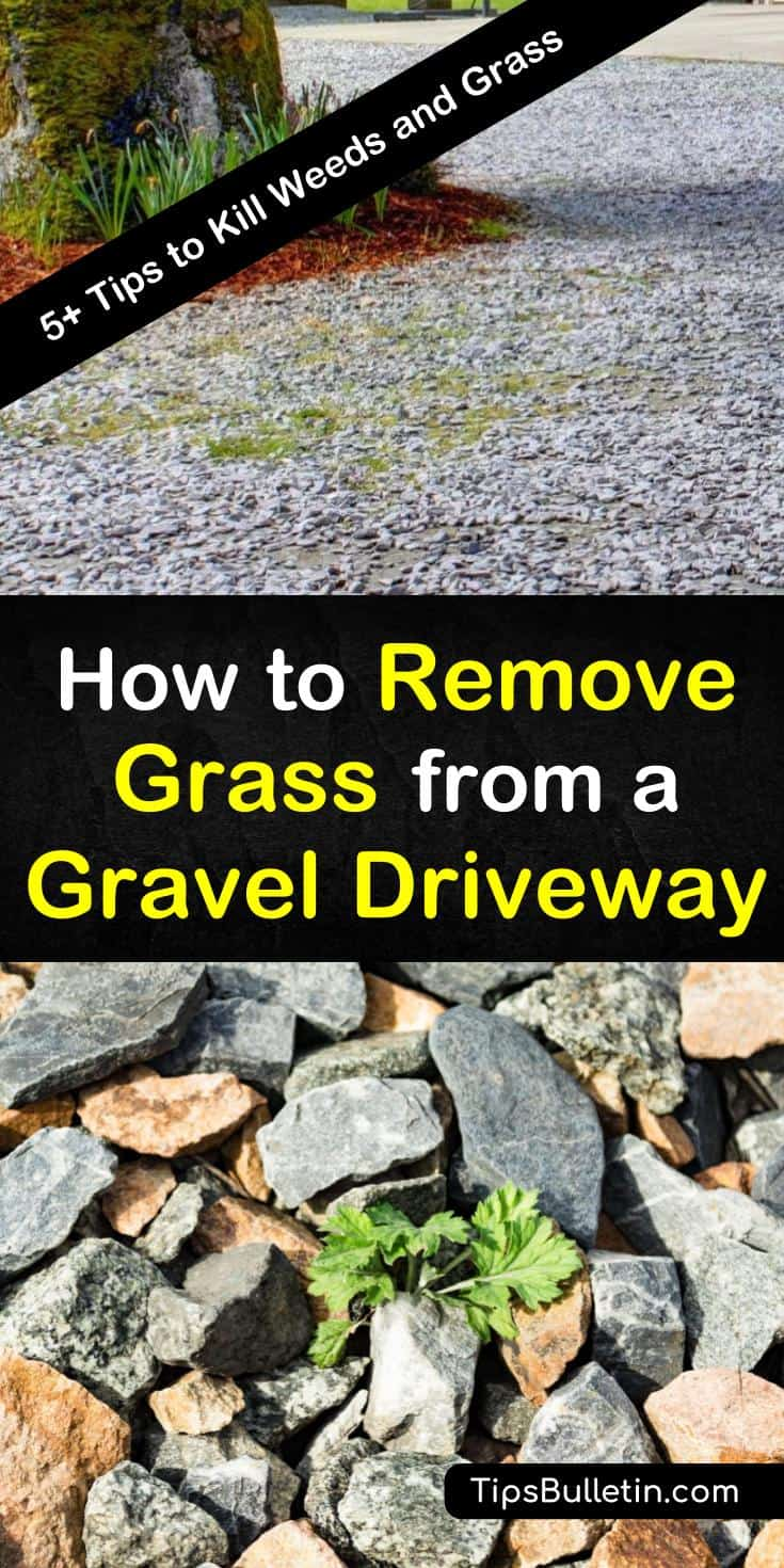 Learn how to make a weed killer out of vinegar to kill unwanted grass in your gravel driveway. Prevent grass and weeds from returning by using natural weed control methods and recipes. #killdrivewaygrass #grasskiller #cleangraveldriveway