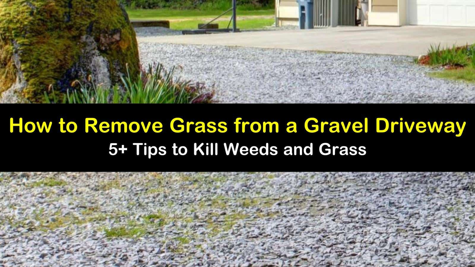how to remove grass from a gravel driveway titleimg1