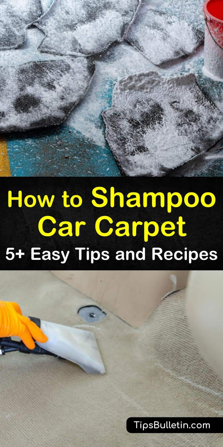 Discover how to shampoo car carpet using simple cleaning techniques. Save yourself the hassle of expensive auto detailing by using these DIY recipes on your own. Learn how to clean your car without machine, using ingredients like vinegar, brown sugar, and baking soda. #shampoocarcarpet #carpet