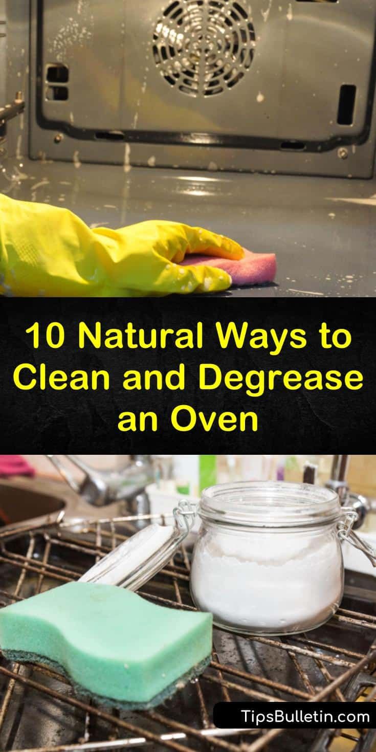 Clean your stove, range hoods, and oven with vinegar, baking soda, and other natural ingredients. Our easy cleaning recipes show you how to quickly remove grease with ammonia. #oven #ovencleaning #cleananoven