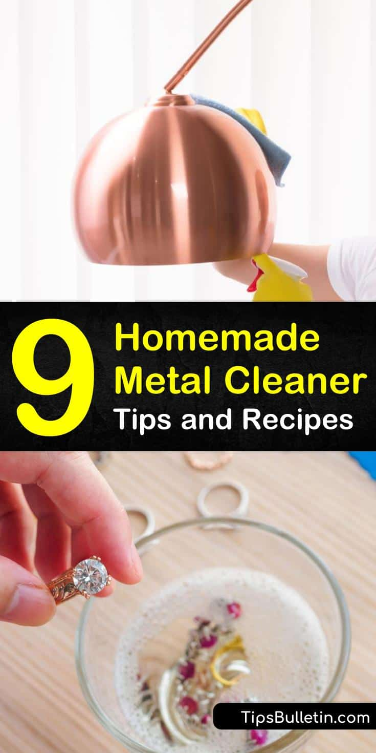 Learn how to clean costume jewelry, sterling silver, copper, stainless steel and other metals using non-toxic homemade cleaners. Instead of taking your silver jewelry to the jeweler, use baking soda, water, and a soft cloth to restore the metal. #metalcleaner #cleaning #metal