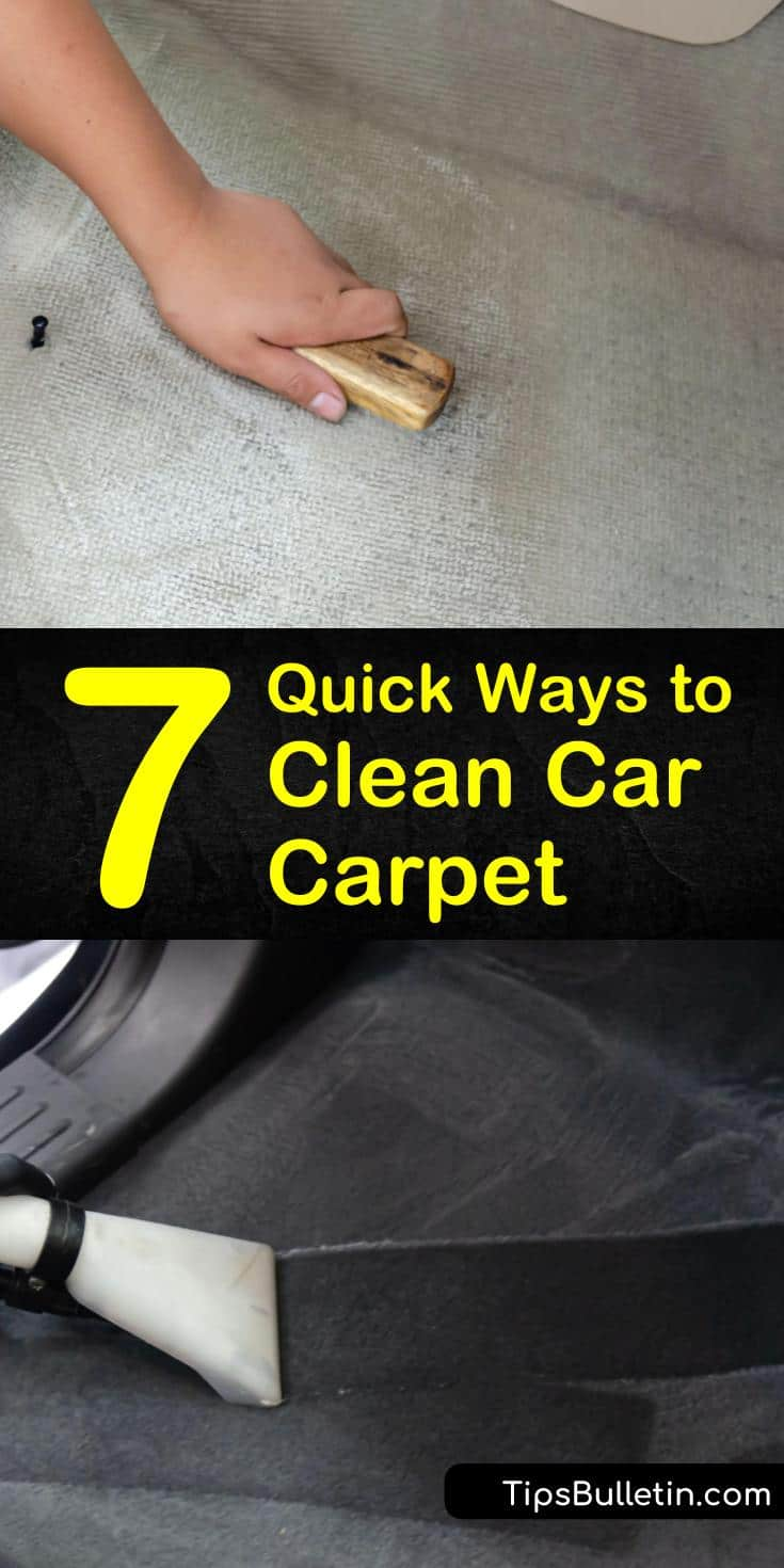 Discover how easy it is to remove stains or a bad smell from your vehicle's carpeting. Use DIY cleaning solutions with baking soda to perform a deep cleaning on your car's carpet and floor mats. #carcarpetcleaning #carcarpet #cleancarcarpet