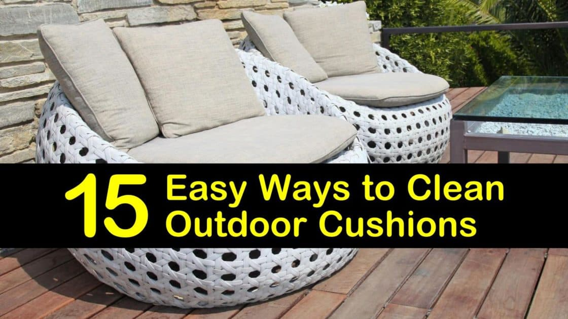 15 Easy Ways To Clean Outdoor Cushions, How To Remove Mold Spots From Outdoor Cushions