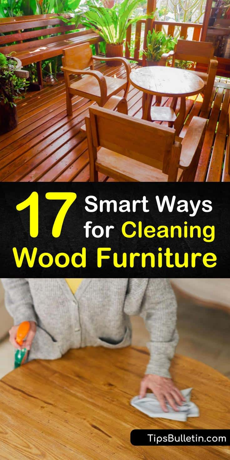 Are you ready to learn how to clean wood furniture without damaging the surface? Natural cleaning products like olive oil, vinegar, and essential oils are great options for polishing and cleaning wood. Follow these techniques for dusting, polishing, and buffing wood. #clean #wood #furniture