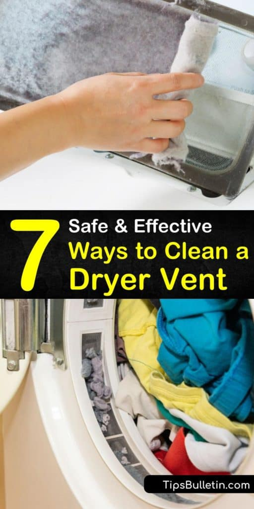 Because dryer lint is highly flammable, regular cleaning of the dryer ductwork is vital to prevent dryer fires. Learn how to remove lint build up from the clothes dryer lint trap, dryer duct, and outside vent. #cleanadryervent #dryer #cleanvent #removelint