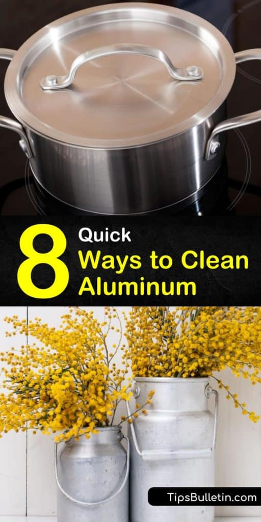 Learn the right techniques for cleaning aluminum cookware, lawn furniture, and other household items. Remove grime, tarnish, and discoloration using warm water, dish soap, lemon juice, cream of tartar, and white vinegar. #aluminum #clean #cleaningaluminum