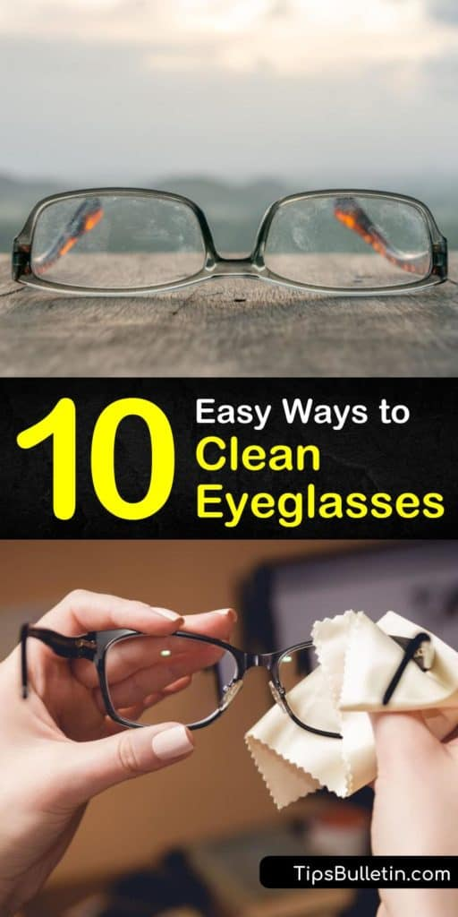 Clean eyeglasses means no smudges or grime on your lenses. Using warm water and dish soap you can clean glasses safely even those with various lens coatings, including anti-reflective. #cleaneyeglasses #cleaning #glasses