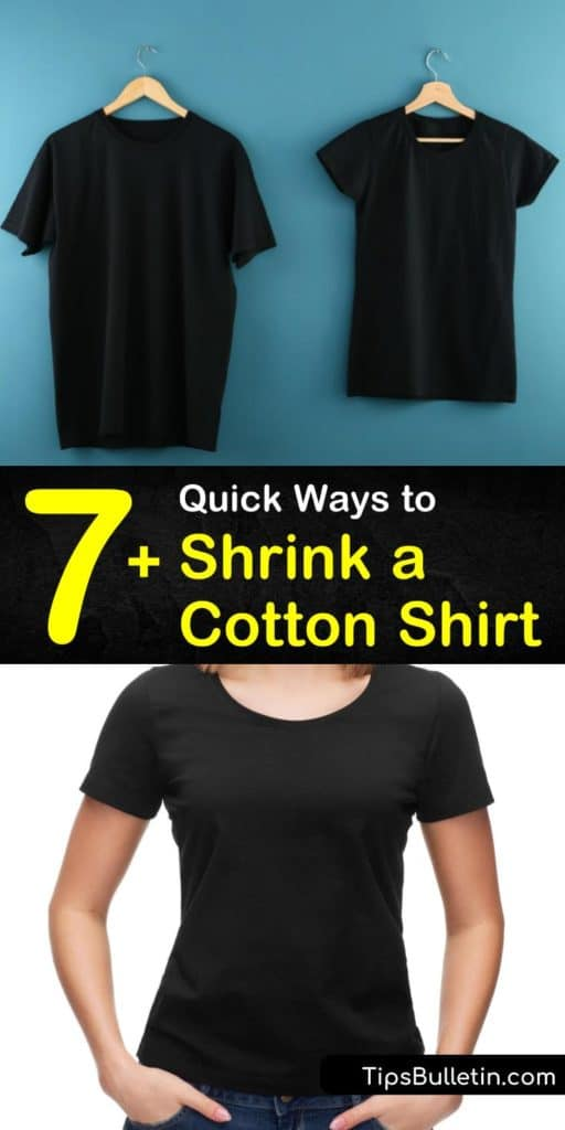 Follow these methods for how to shrink a cotton shirt, whether wanting to reduce it by one size or three. Use boiling water to shrink denim and cotton by hand. Toss your cotton-shirt and preshrunk items on a high heat setting in the washer and dryer for maximum shrinkage. #shrink #cotton #shirt