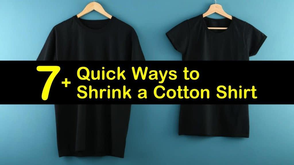how to shrink a cotton shirt titleimg1