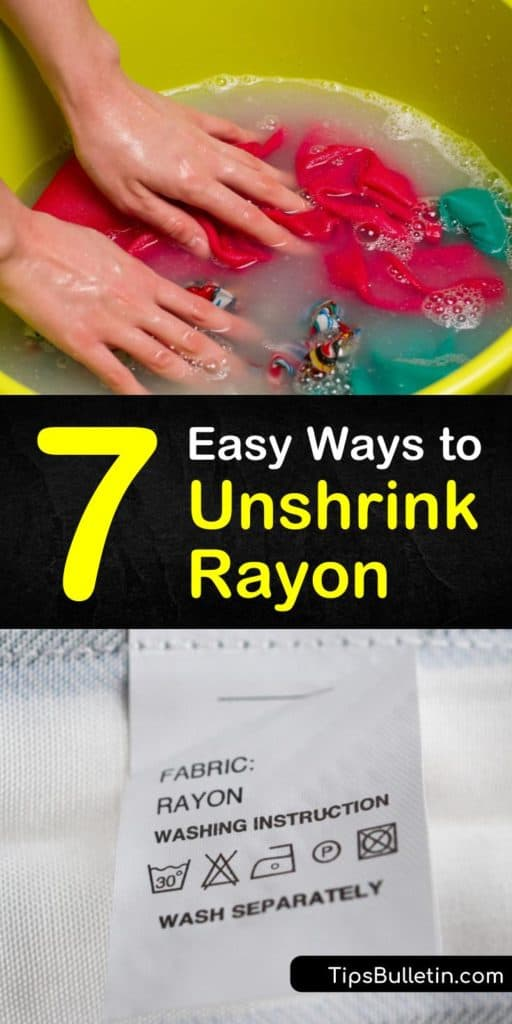 Rayon shrinks when washed in hot water and a washing machine. Learn how to unshrink clothes made of rayon material using baby shampoo and hair conditioner. Unshrink rayon with gentle handwashing and DIY solutions to get it back to its original size. #unshrinkingrayon #stretchingrayon #unshrinkrayon