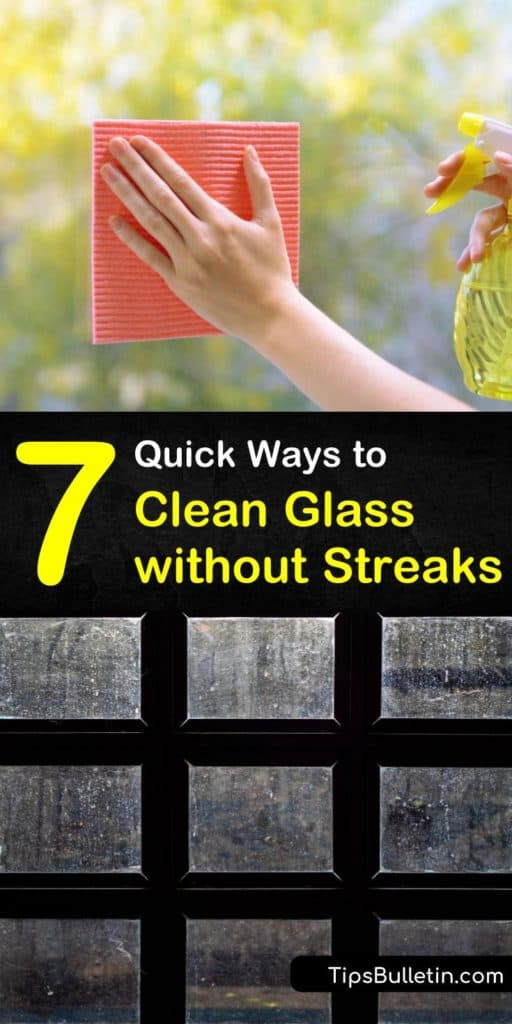 Find out how to clean glass without streaks using microfiber cloth, paper towels, window cleaner, and more. We help you use spray bottles and home window cleaning gear to keep your glass lint-free and beautiful. #glass #cleaning #streakfreeglass #streaks #glassstreaks