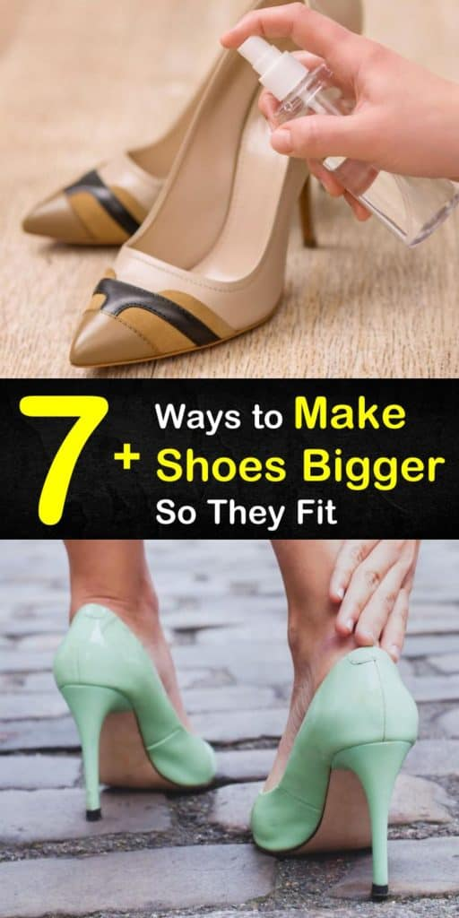 Tight shoes are uncomfortable to wear, plus new shoes are the leading cause of blisters. Learn how to stretch out suede, high heels, and leather shoes using nothing more than a pair of socks and a blow dryer. #shoes #stretch #makeshoesbigger
