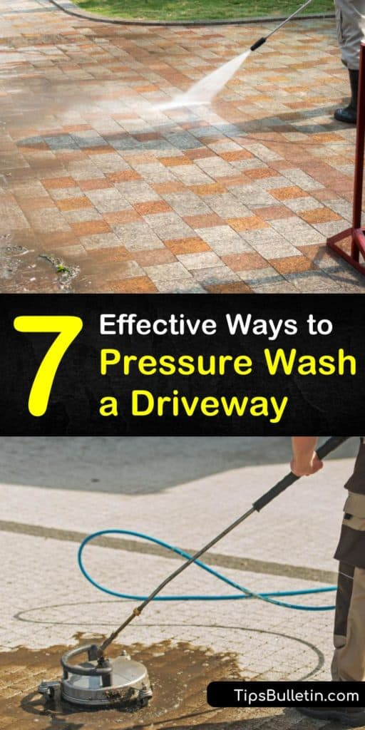 Tired of your grime filled driveway? Looking to get rid of those mold and mildew stains? Learn how a degreaser and a power washer followed by a new coat of sealer helps improve your home's curb appeal. #pressurewashdriveway #cleandriveway #powerwashconcrete
