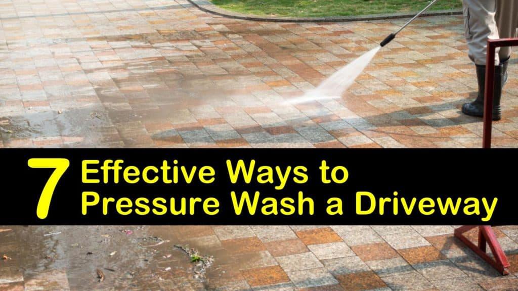 How to Pressure Wash a Driveway titleimg1