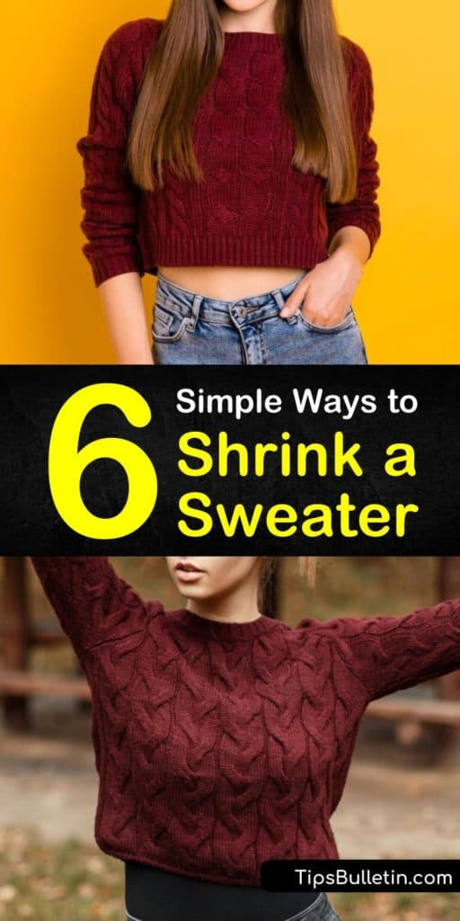 Discover how to shrink a sweater using high heat and low heat. Our guide shows you how excess water and a flat surface help to bring your cashmere and wool sweaters back to their original shapes. Our recommendations help create shrunken sweaters. #shrinksweaters #sweater #shrinking #laundry