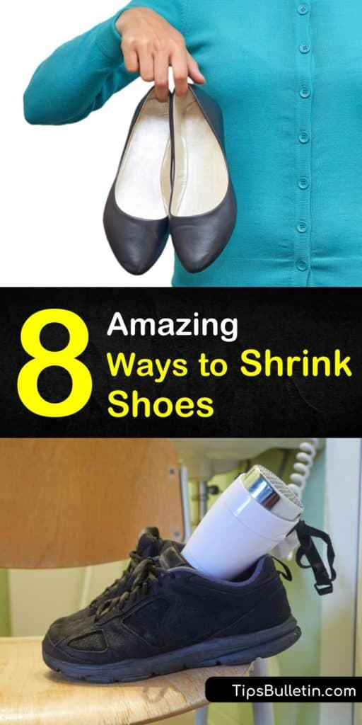 Find out how to shrink shoes using simple equipment like a hair dryer and a spray bottle of water. Learn how to make shoes feel smaller using an elastic band or thick socks. Run worn down canvas shoes through the dryer to shrink them back down to their original size. #shrink #shoes #shrinkshoes
