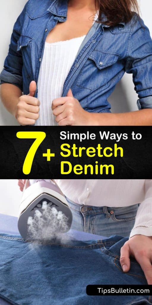Learn how to stretch denim using warm water, lunges and more. Our guide helps you stretch jeans and lets you enjoy your Levi's and skinny jeans once more. With our help, it's easy to wear tight jeans. #stretchdenim #denim #stretch #stretchjeans
