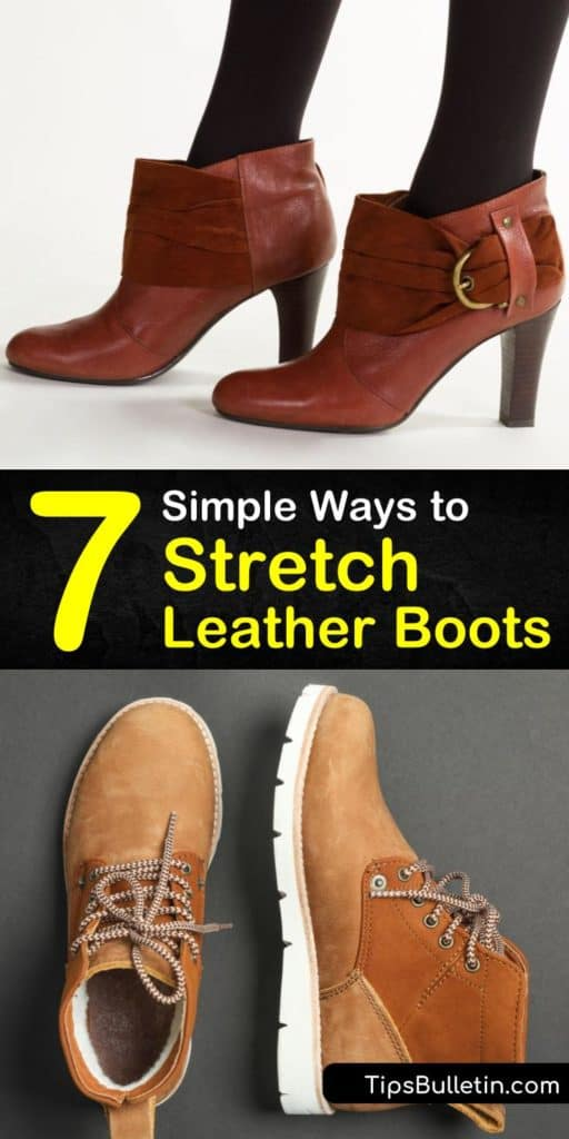 Learn how to stretch leather boots using nothing more than thick socks and a hairdryer. Prevent blisters using these simple shoe stretching strategies with rubbing alcohol and conditioner. Widen leather shoes with ice for the perfect fit. #stretch #leather #boots #shoes