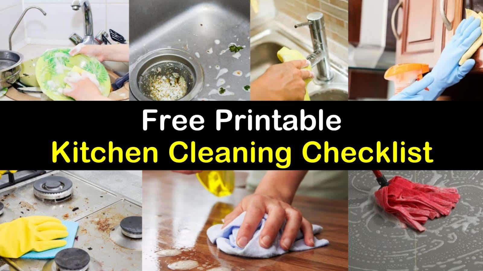 Kitchen Cleaning Checklist titleimg1
