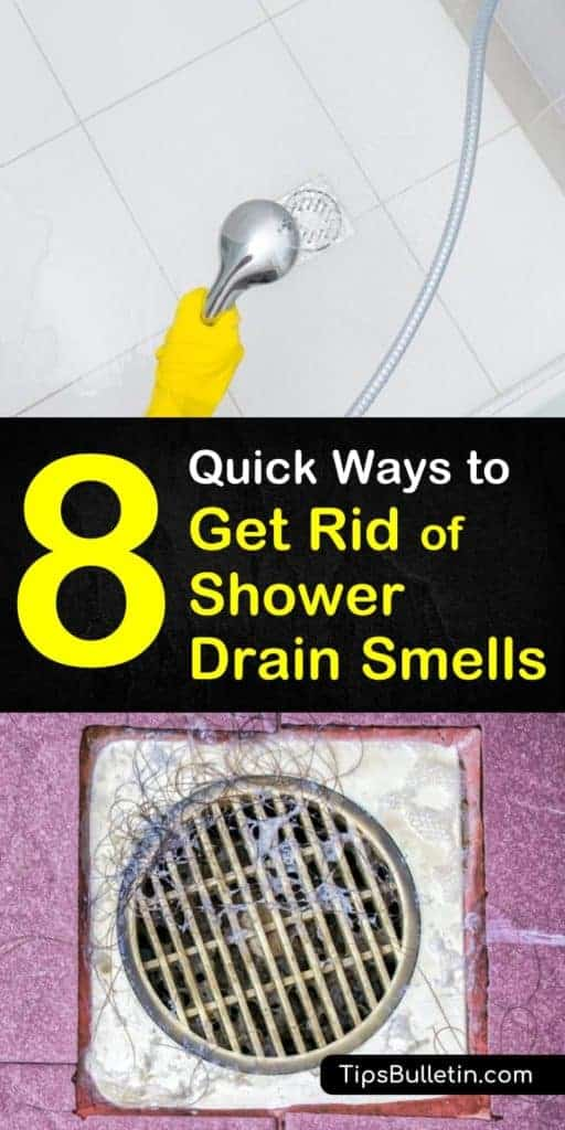 Discover how to get rid of shower drain smells for good. Learn eight simple and quick ways to quickly eliminate a stinky shower drain with baking soda and vinegar and other simple methods. Don't let a stinky drain keep you from enjoying your showers. #stinkydrain #showerdrain #odor
