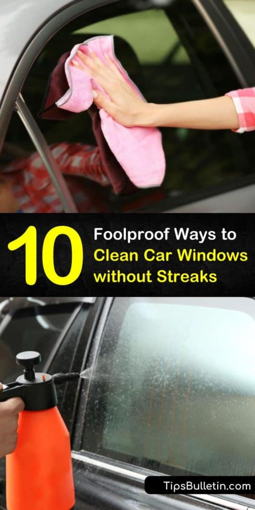 Discover how simple cleaning car windows can be and make your own cleaning solutions at home. Create DIY window cleaner and glass cleaner and use a microfiber cloth to remove hard water spots and achieve clean windows. #cleanwindows #carwindows #cleaning