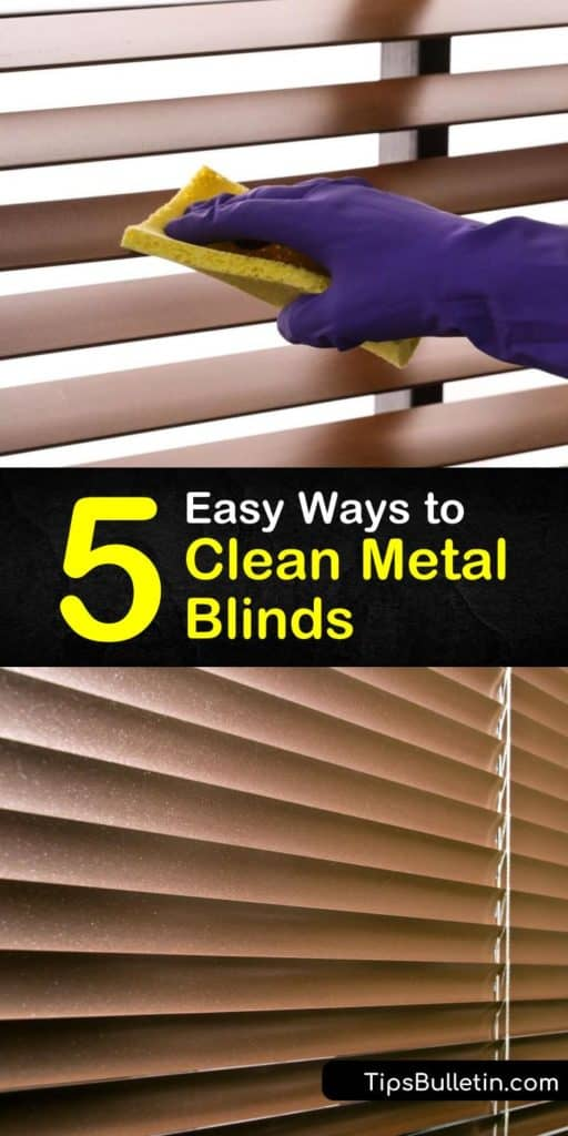 Learn how to clean vertical blinds and mini blinds with dish soap, water, and a microfiber cloth to keep them looking new. Wooden blinds need regular dusting and cleaning with a vacuum cleaner brush attachment. #cleaningmetalblinds #cleaning #blinds #windowblinds #clean