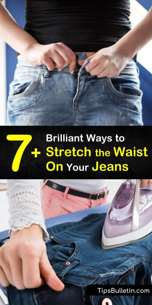 Fit into your skinny jeans forever! Learn how to stretch the waist on jeans using tricks like lunges, hot water, or cutting the side seams. These DIY tips help you stretch jeans up to two sizes too small. #stretchjeans #jeanswaist #makejeansbigger #waistline