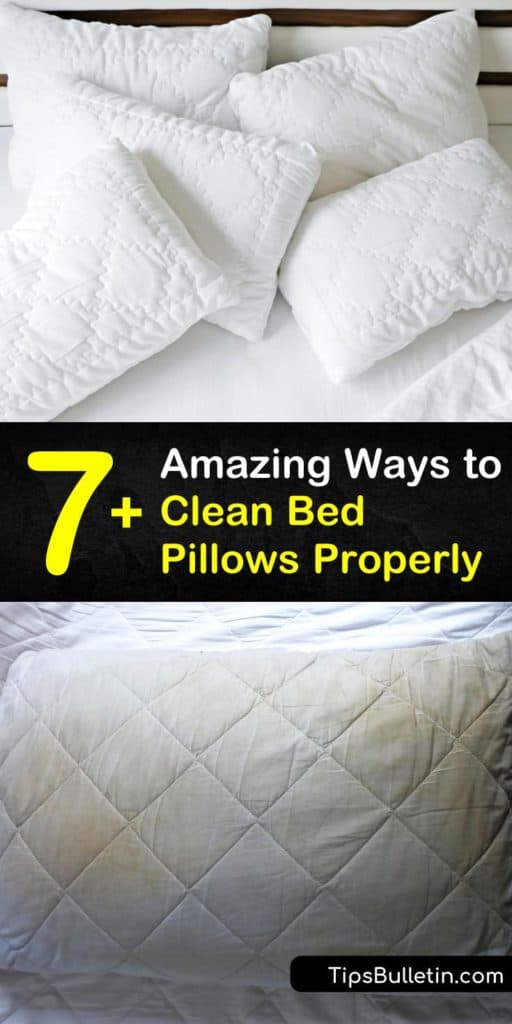 Learn how to wash bed pillows at home, whether you prefer memory foam or synthetic. These DIY techniques help remove stains or dust mites with low heat, fluff the cushions back to form with ease, and use the right rinse cycle for your needs. #washpillows #bedpillows #foampillows #washingbedpillows