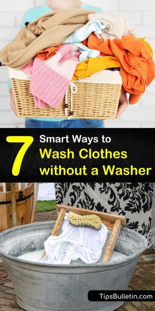 Discover the best alternatives for washing clothes without a washer. Grab some laundry detergent and fill a basin with warm or cold water to start practicing these clever hand-washing techniques. #wash #clothes #washer
