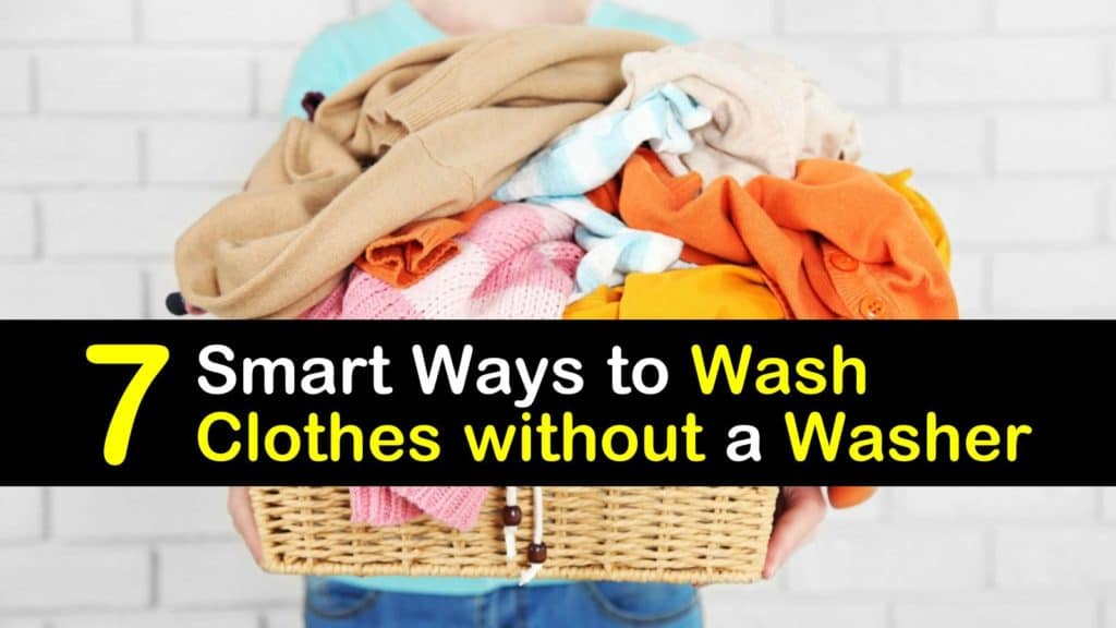 How to Wash Clothes Without a Washer titleimg1