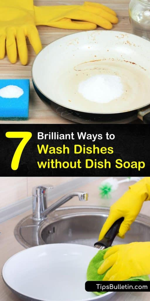 Discover amazing tricks to clean dirty dishes without soap suds using natural ingredients like baking soda or boiling hot water. #washingdisheswithoutsoap #cleandishes #dishwashing #nosoap #nodishsoap #dishsoap
